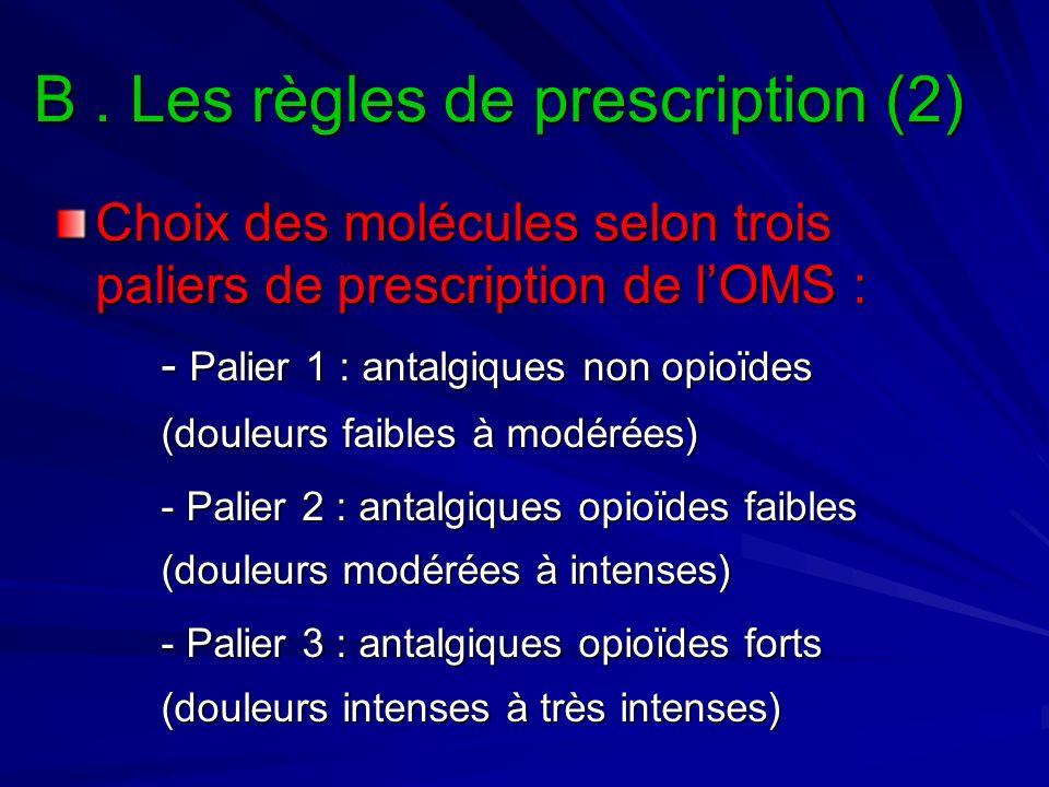 B . Les règles de prescription (2)