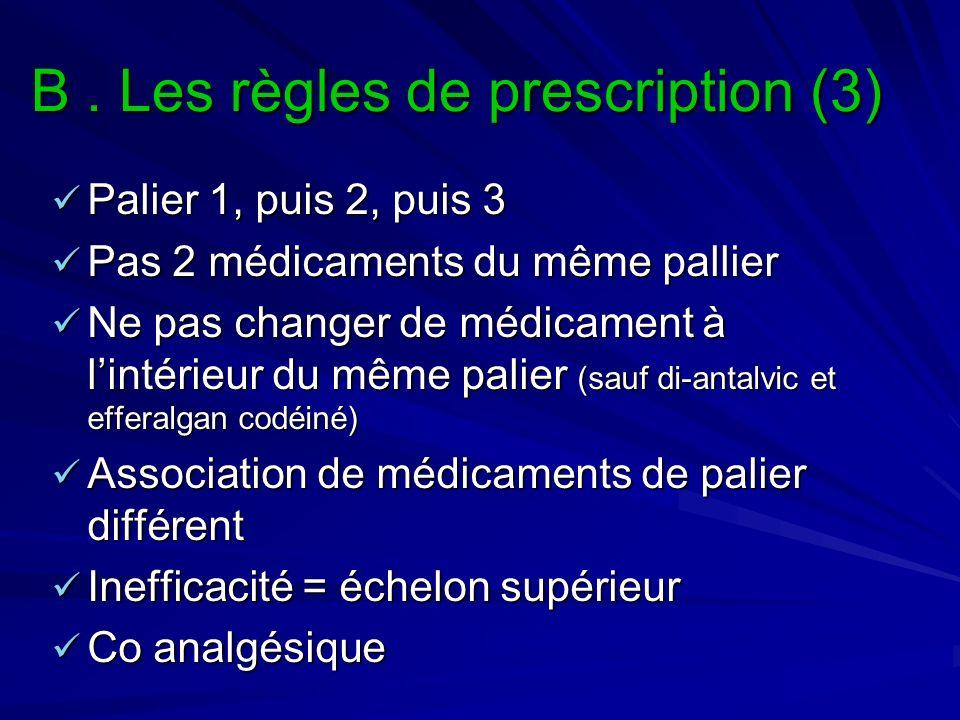 B . Les règles de prescription (3)
