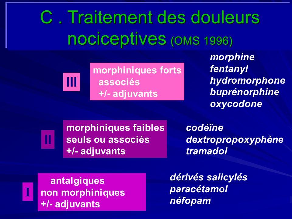 C . Traitement des douleurs nociceptives (OMS 1996)