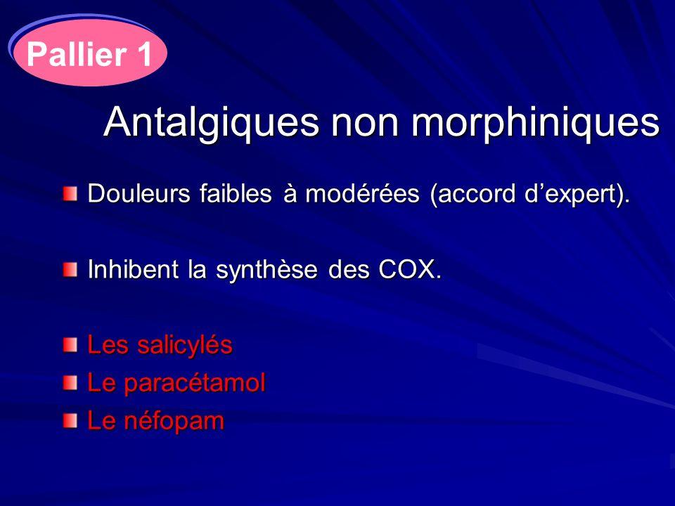 Antalgiques non morphiniques