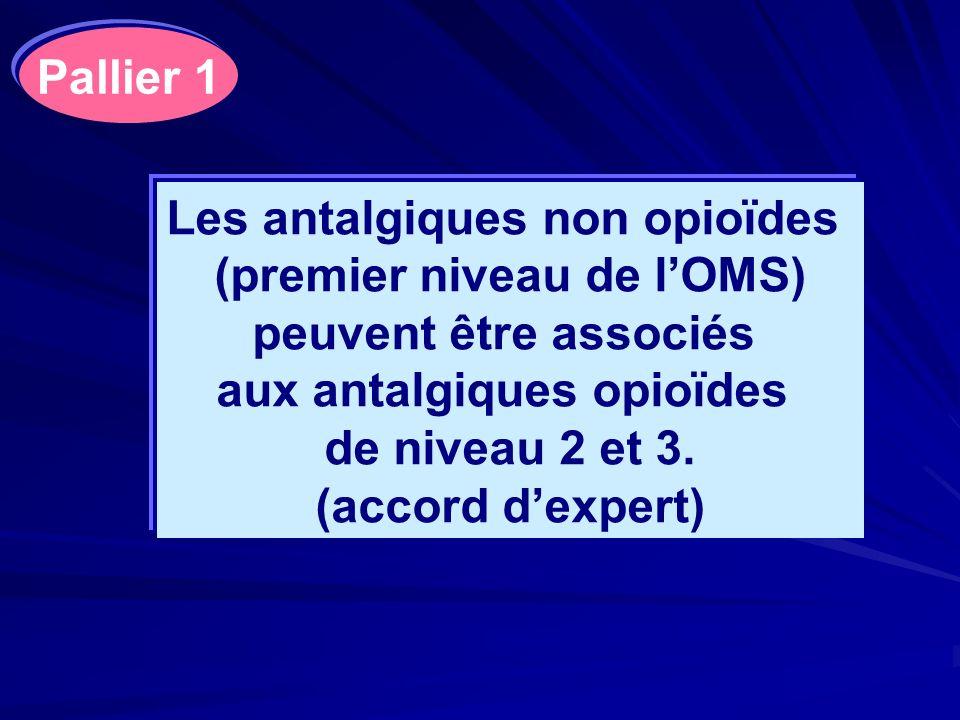 Les antalgiques non opioïdes (premier niveau de l'OMS)