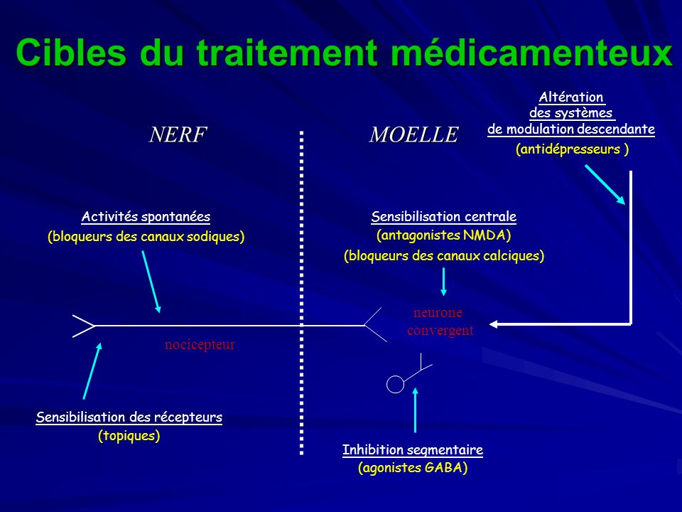 Cibles du traitement médicamenteux