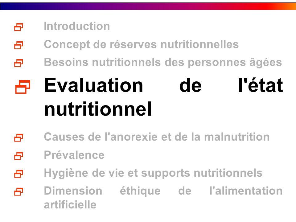 Evaluation de l état nutritionnel