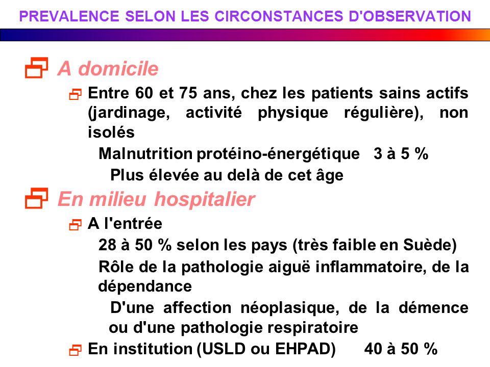 PREVALENCE SELON LES CIRCONSTANCES D OBSERVATION