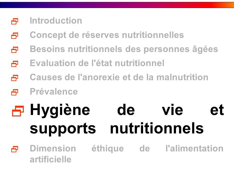 Hygiène de vie et supports nutritionnels