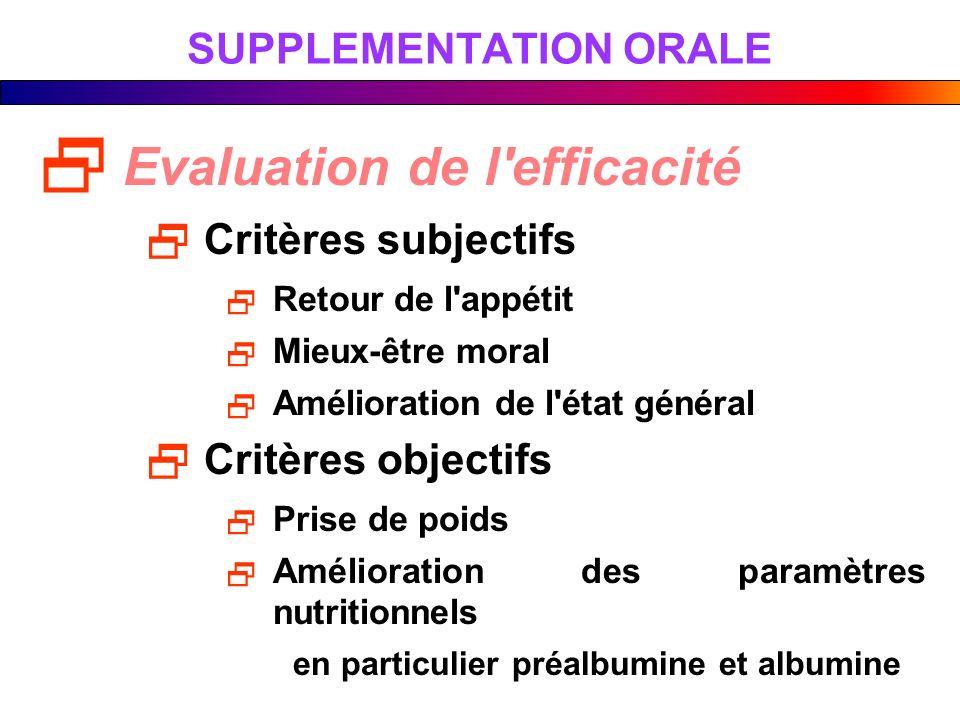SUPPLEMENTATION ORALE