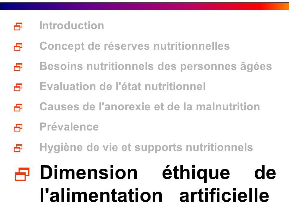 Dimension éthique de l alimentation artificielle