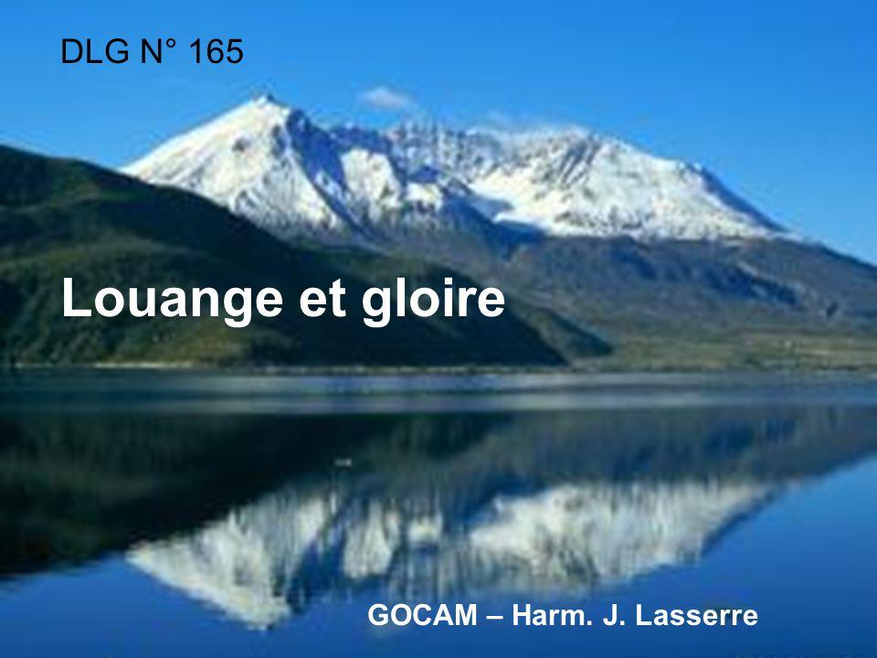 DLG N° 165 Louange et gloire