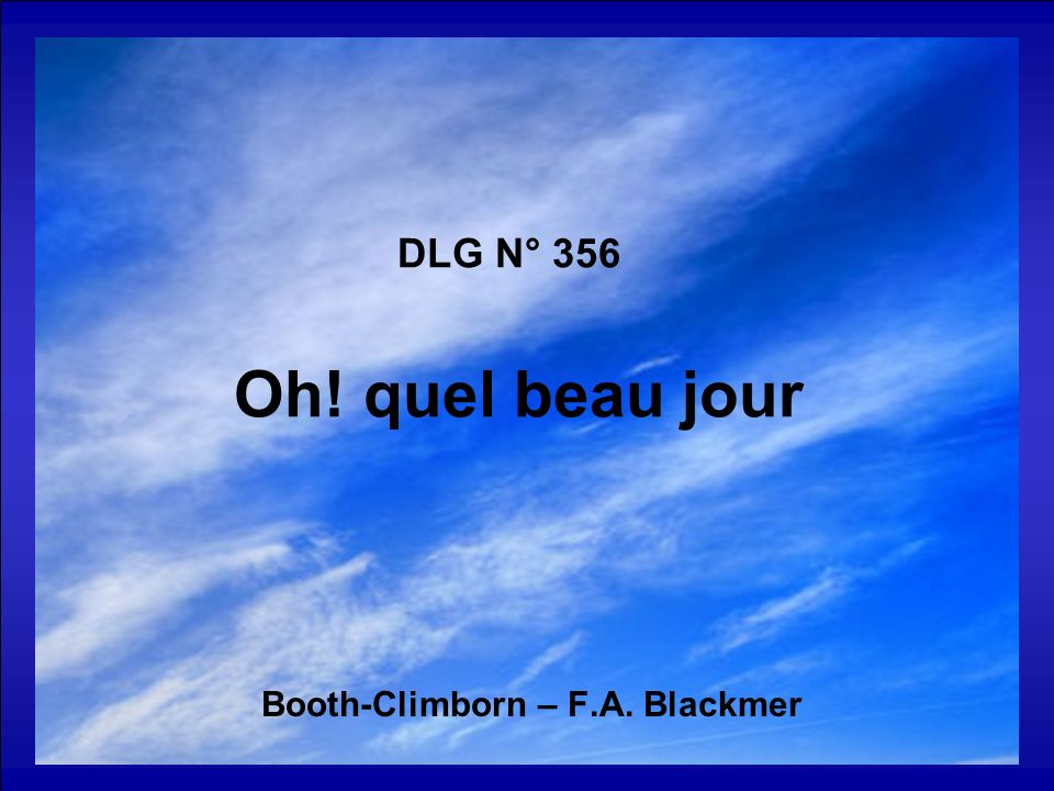 Booth-Climborn – F.A. Blackmer