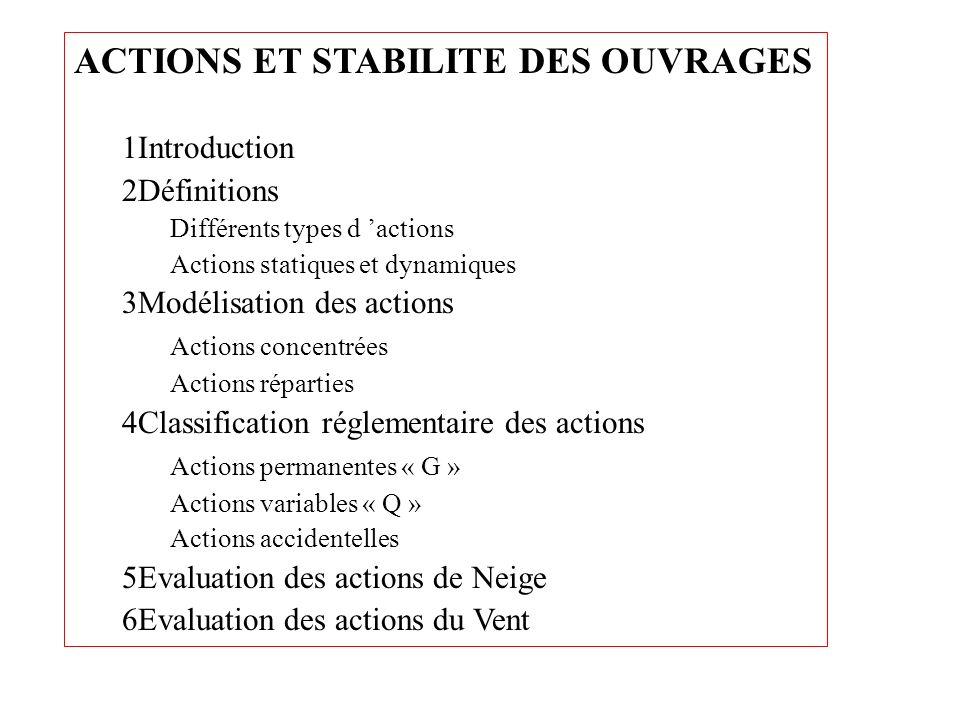 ACTIONS ET STABILITE DES OUVRAGES