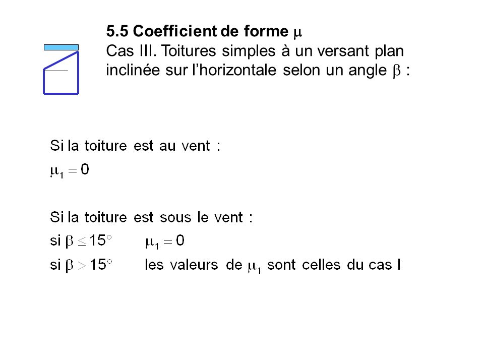 5.5 Coefficient de forme m Cas III.