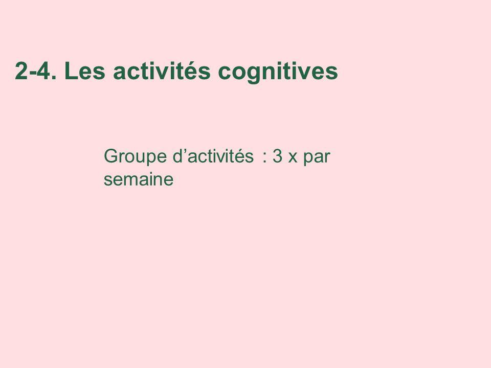 2-4. Les activités cognitives