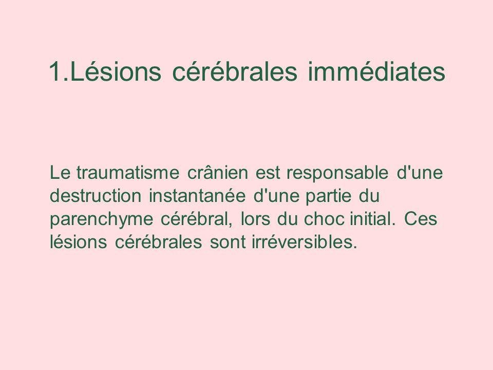 1.Lésions cérébrales immédiates
