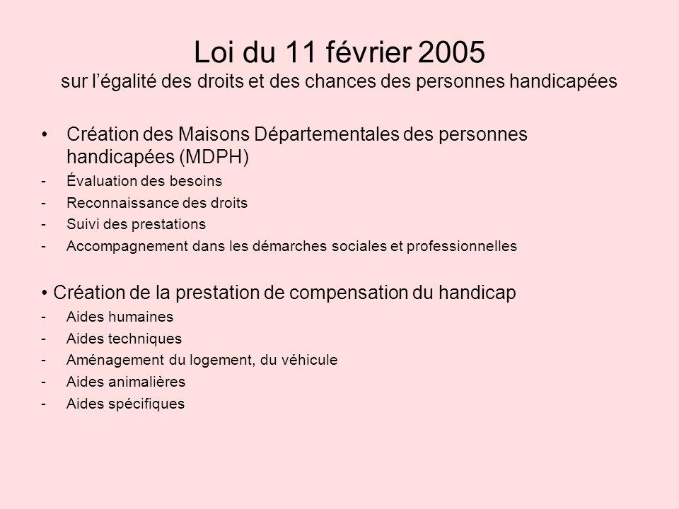 Loi du 11 février 2005 sur l'égalité des droits et des chances des personnes handicapées