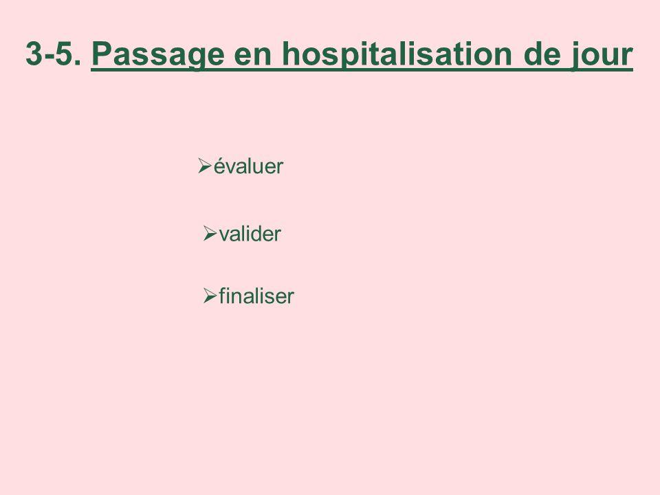 3-5. Passage en hospitalisation de jour