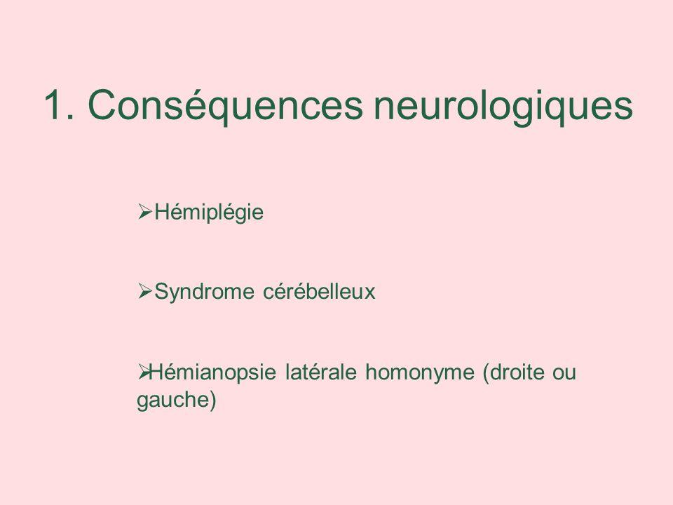 1. Conséquences neurologiques