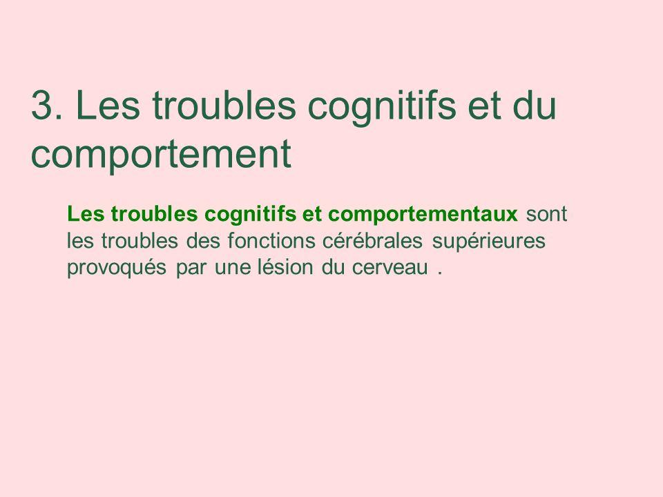 3. Les troubles cognitifs et du comportement