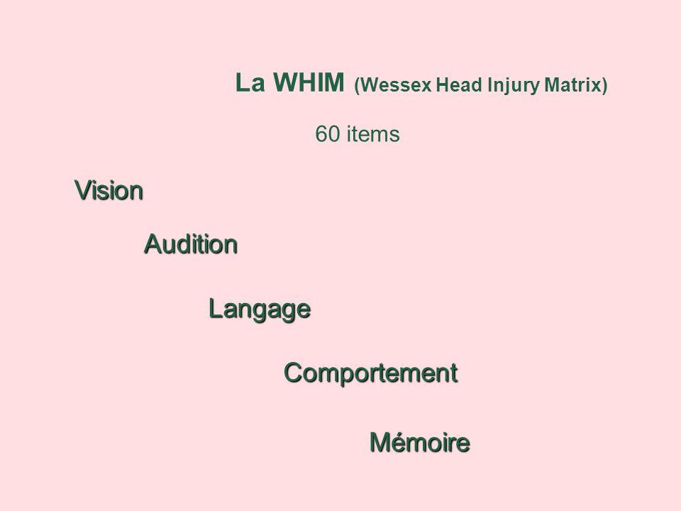 La WHIM (Wessex Head Injury Matrix)