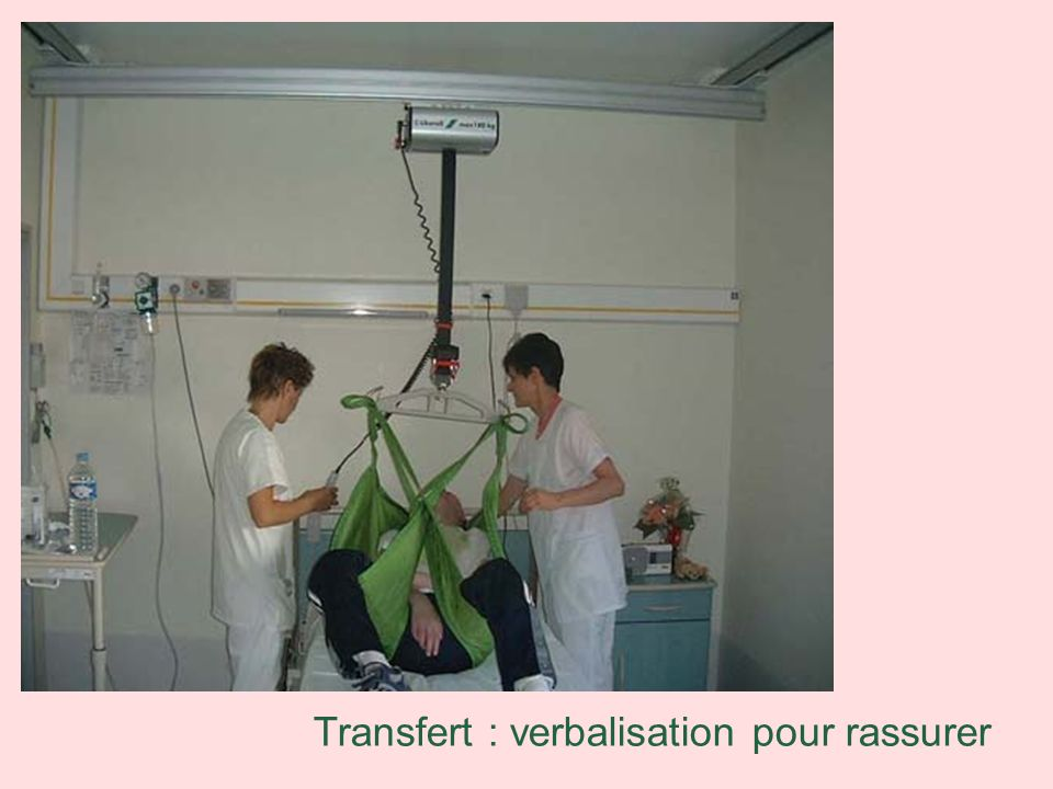 Transfert : verbalisation pour rassurer