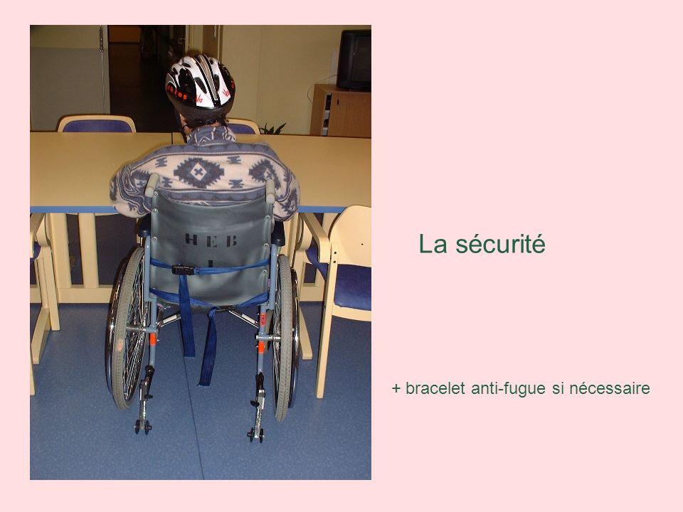 La sécurité + bracelet anti-fugue si nécessaire