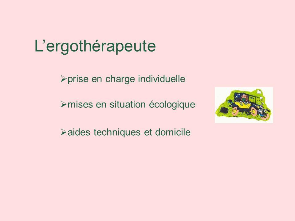 L'ergothérapeute prise en charge individuelle