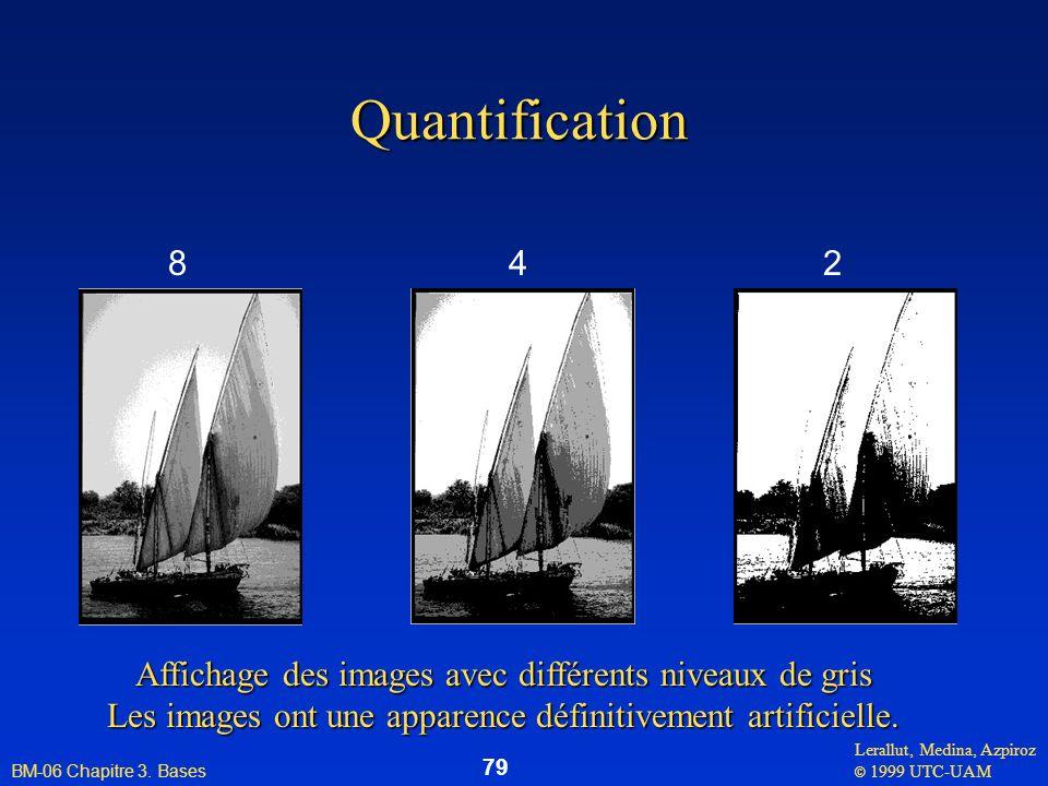 Quantification 8. 4. 2. Affichage des images avec différents niveaux de gris.