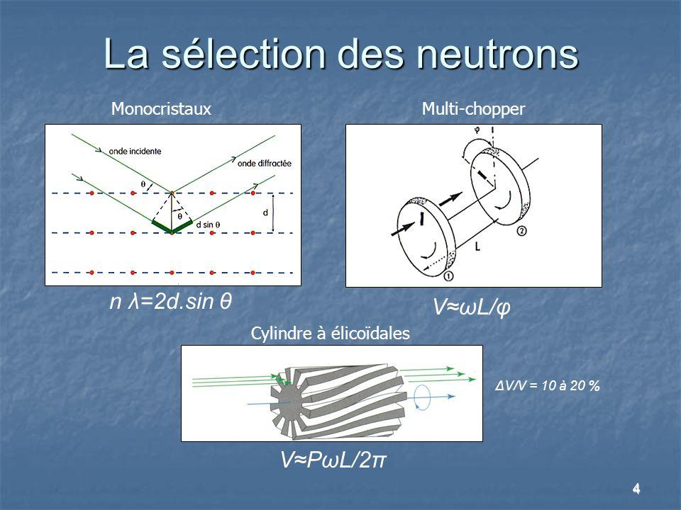La sélection des neutrons