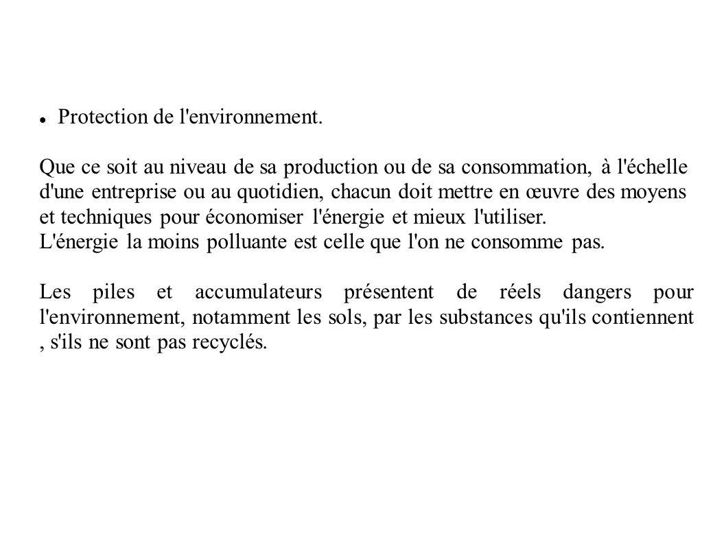 Protection de l environnement.