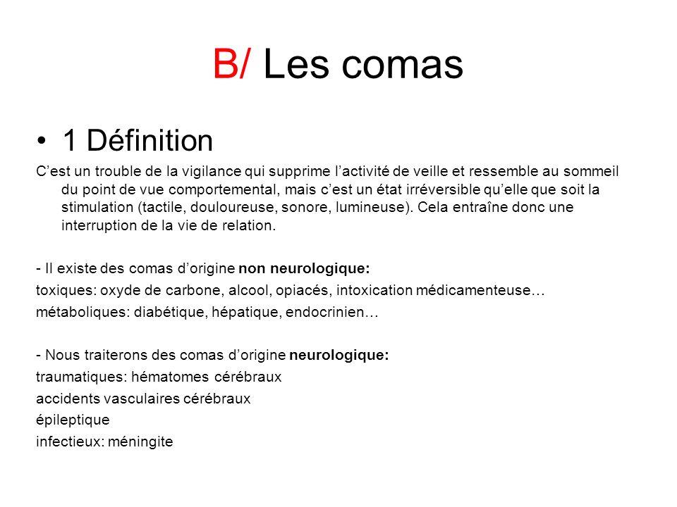 B/ Les comas 1 Définition