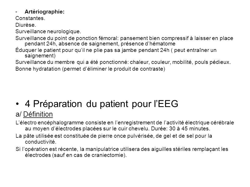 4 Préparation du patient pour l'EEG
