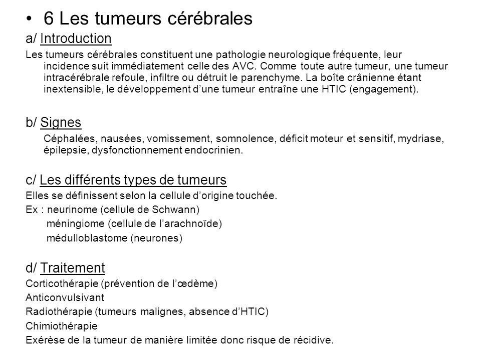 6 Les tumeurs cérébrales