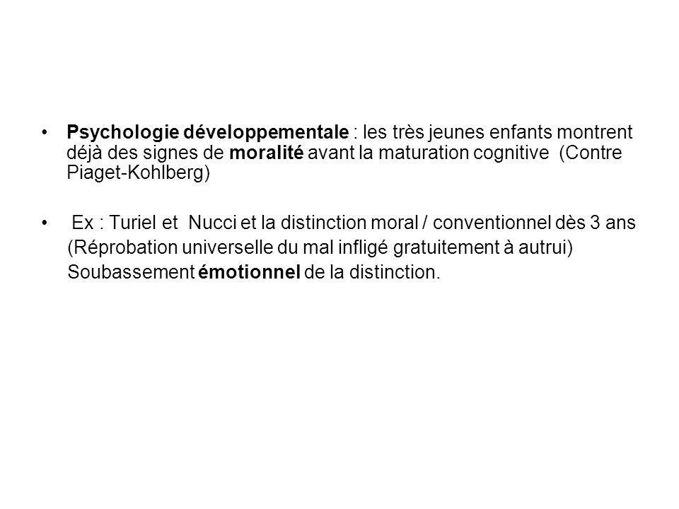 Psychologie développementale : les très jeunes enfants montrent déjà des signes de moralité avant la maturation cognitive (Contre Piaget-Kohlberg)