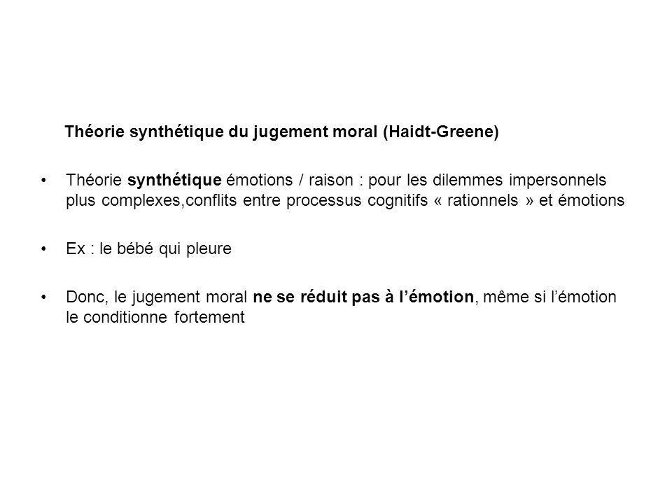 Théorie synthétique du jugement moral (Haidt-Greene)
