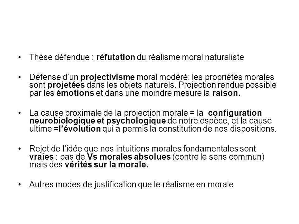Thèse défendue : réfutation du réalisme moral naturaliste