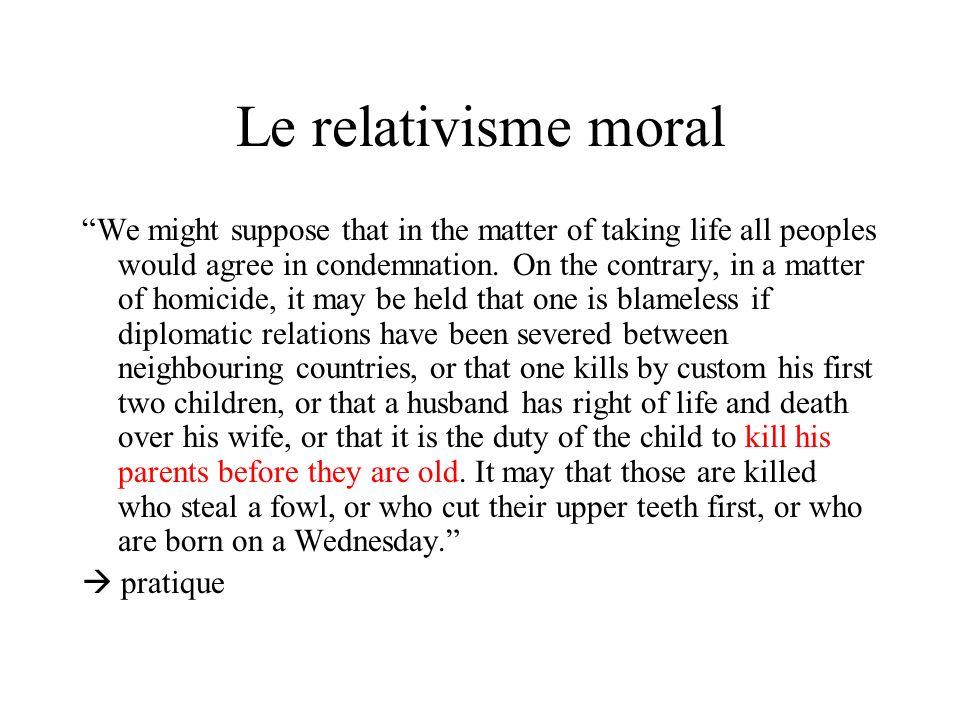 Le relativisme moral