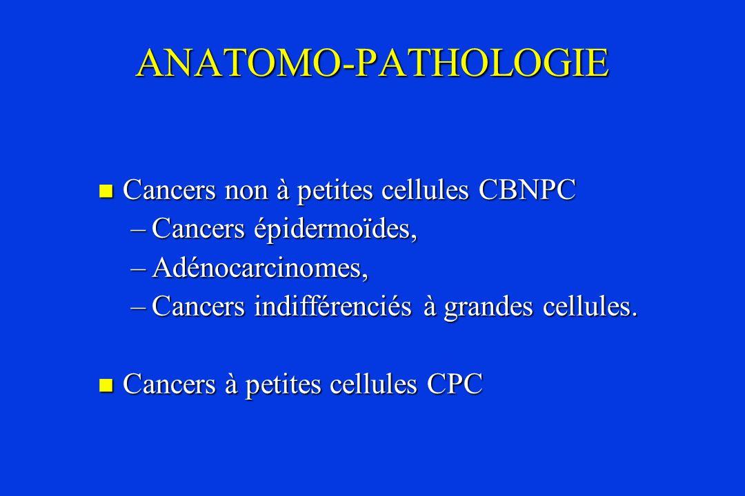 ANATOMO-PATHOLOGIE Cancers non à petites cellules CBNPC