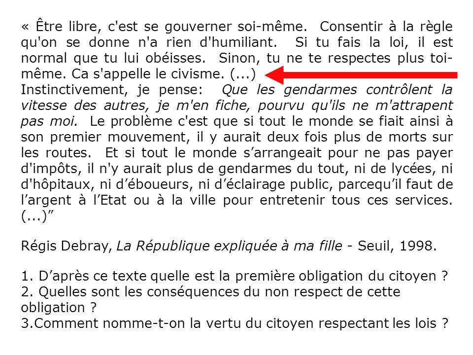 Régis Debray, La République expliquée à ma fille - Seuil, 1998.
