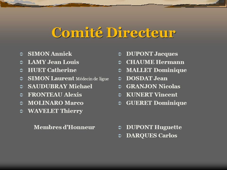 Comité Directeur SIMON Annick LAMY Jean Louis HUET Catherine
