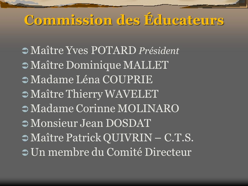 Commission des Éducateurs