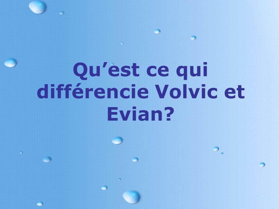 Qu'est ce qui différencie Volvic et Evian