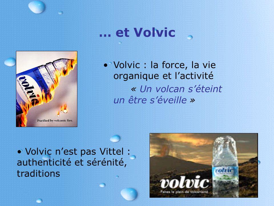 … et Volvic Volvic : la force, la vie organique et l'activité