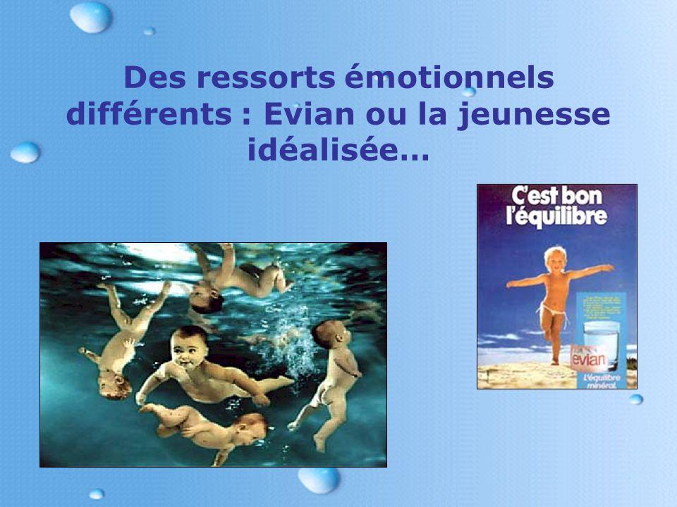 Des ressorts émotionnels différents : Evian ou la jeunesse idéalisée…