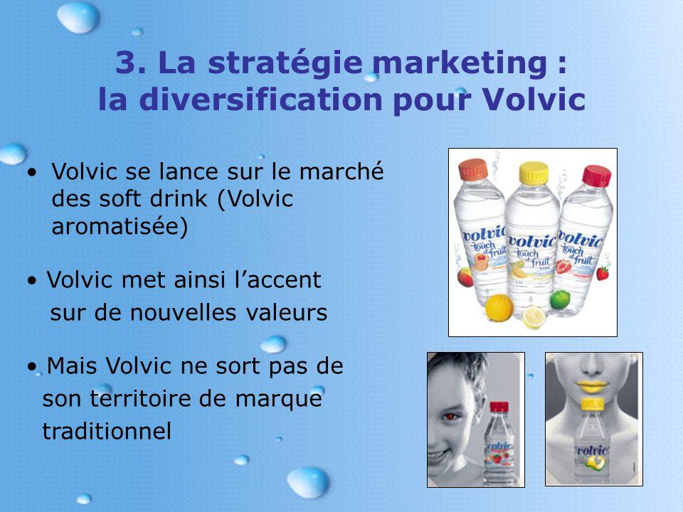 3. La stratégie marketing : la diversification pour Volvic