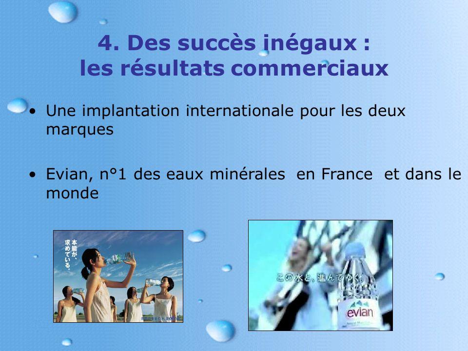 4. Des succès inégaux : les résultats commerciaux