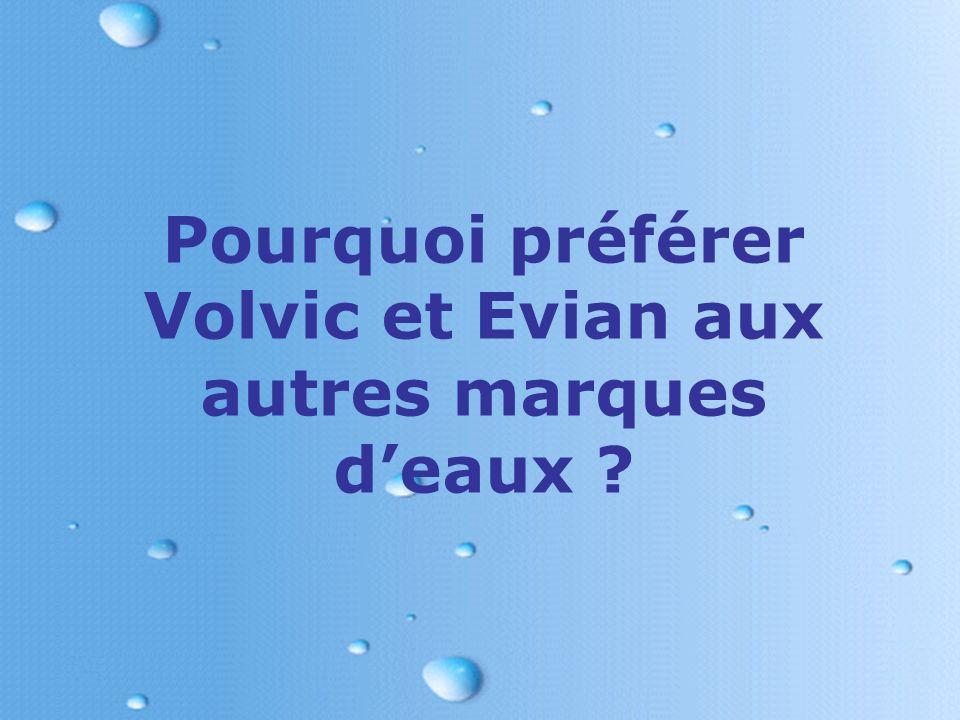 Pourquoi préférer Volvic et Evian aux autres marques d'eaux