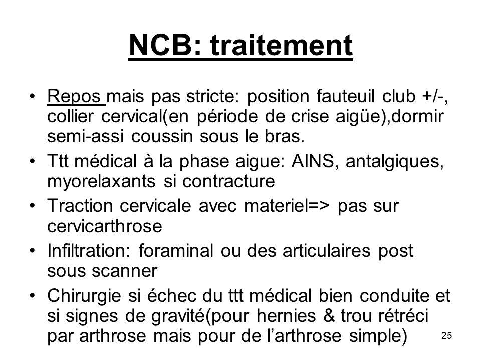 NCB: traitement