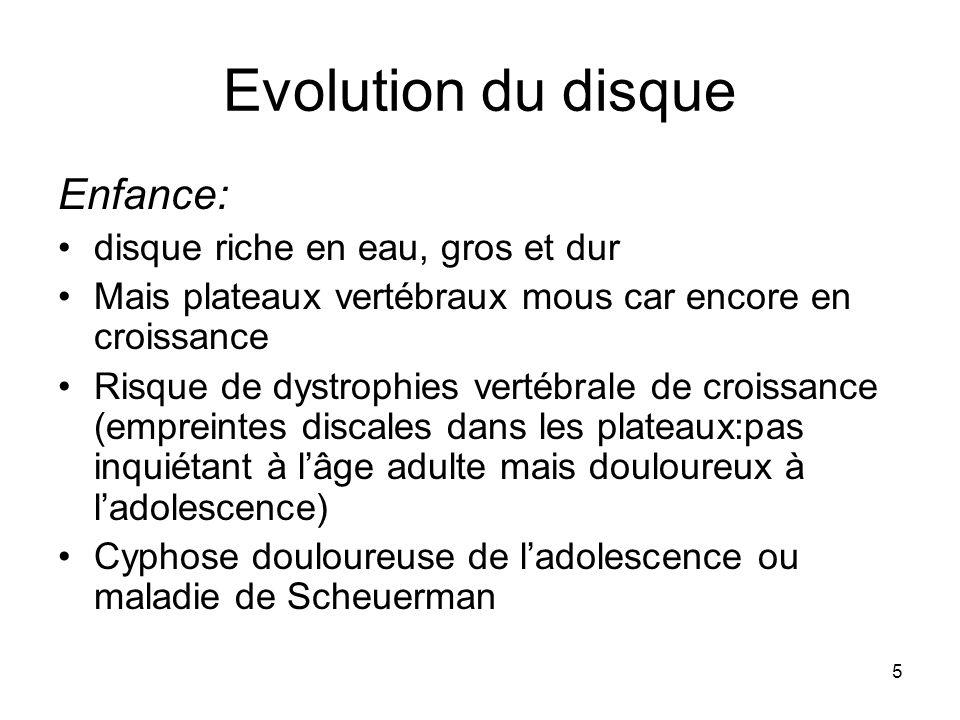 Evolution du disque Enfance: disque riche en eau, gros et dur