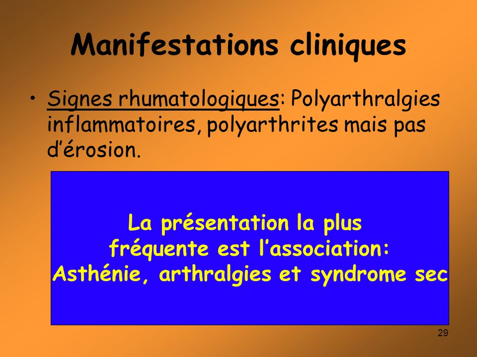 Manifestations cliniques