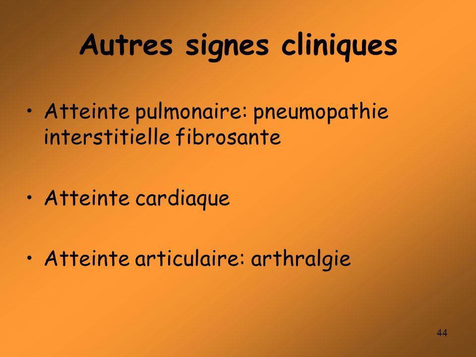 Autres signes cliniques