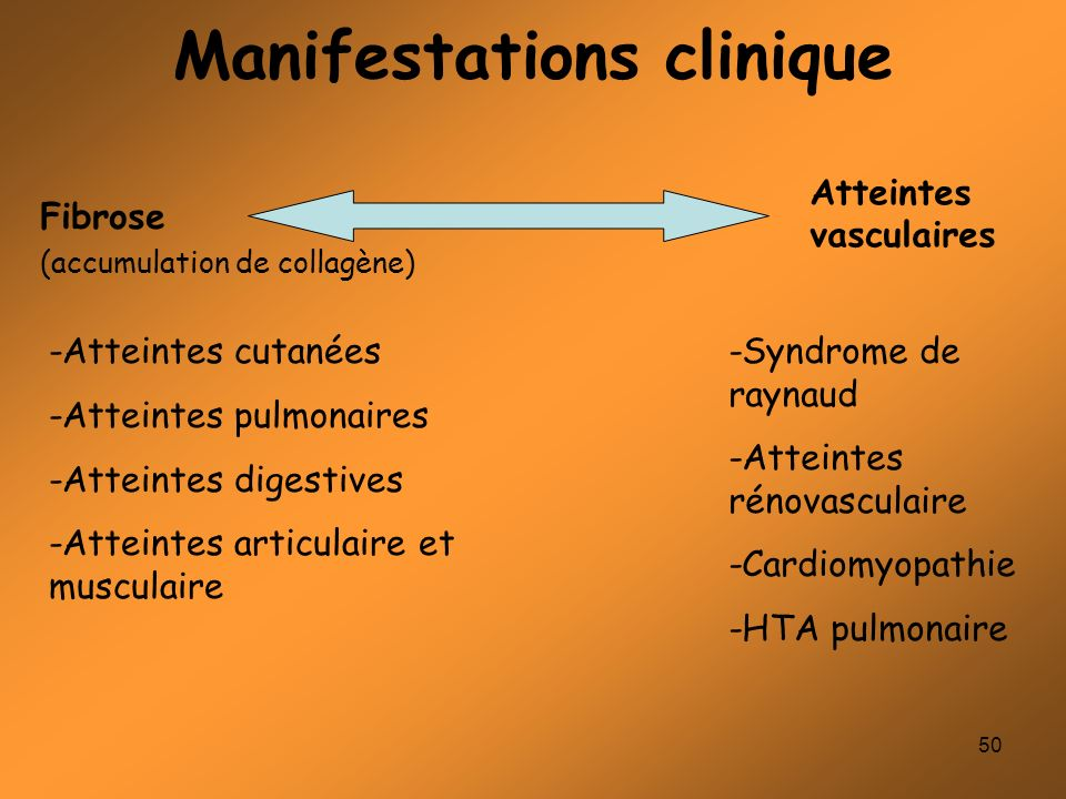 Manifestations clinique
